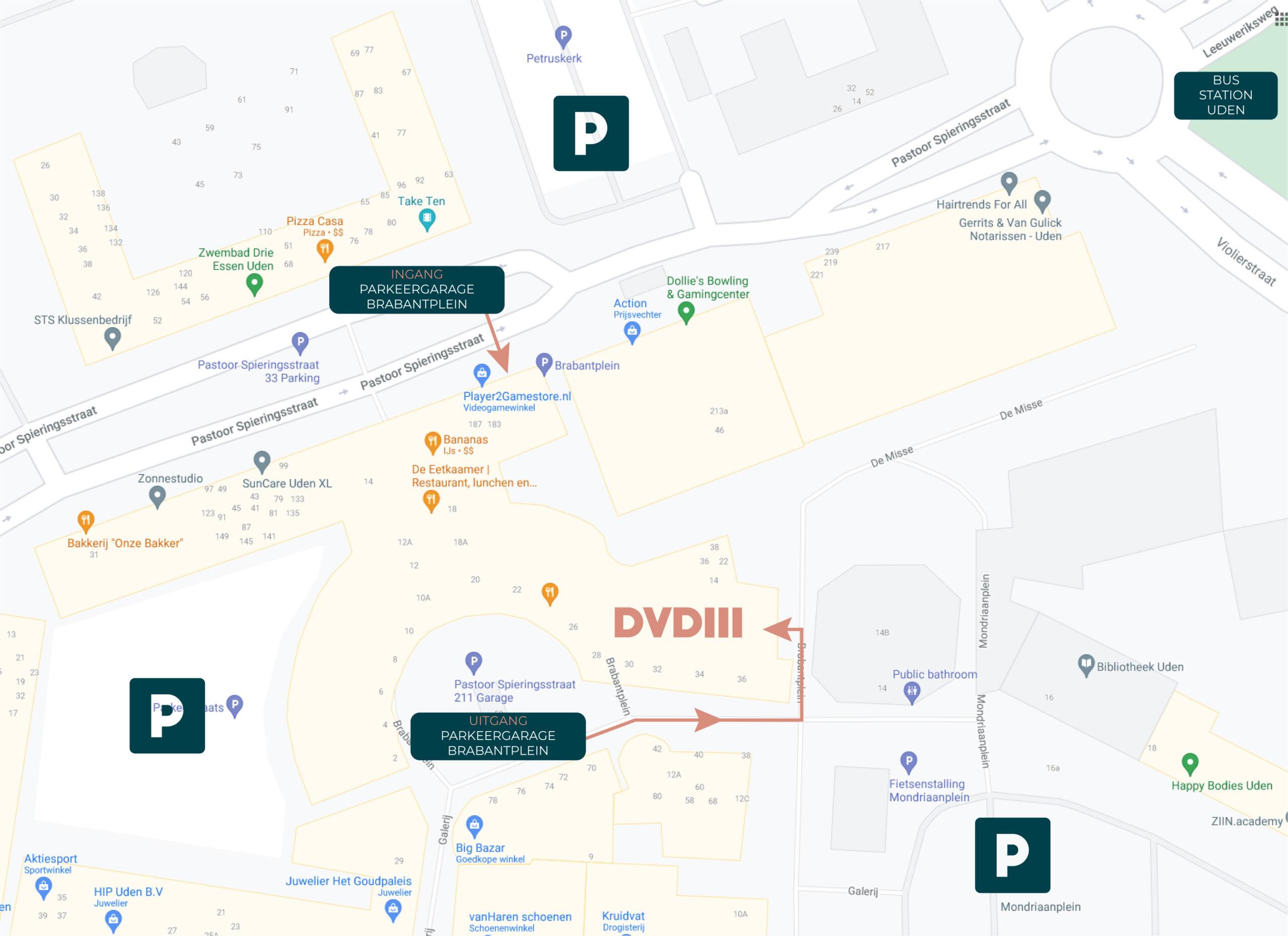Parkeergelegenheid kantorencomplex DVDIII Uden